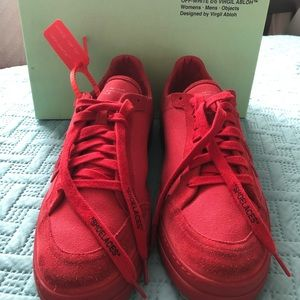 OFF-WHITE Mens Red Red 2.0 Sneakers Size 4…
